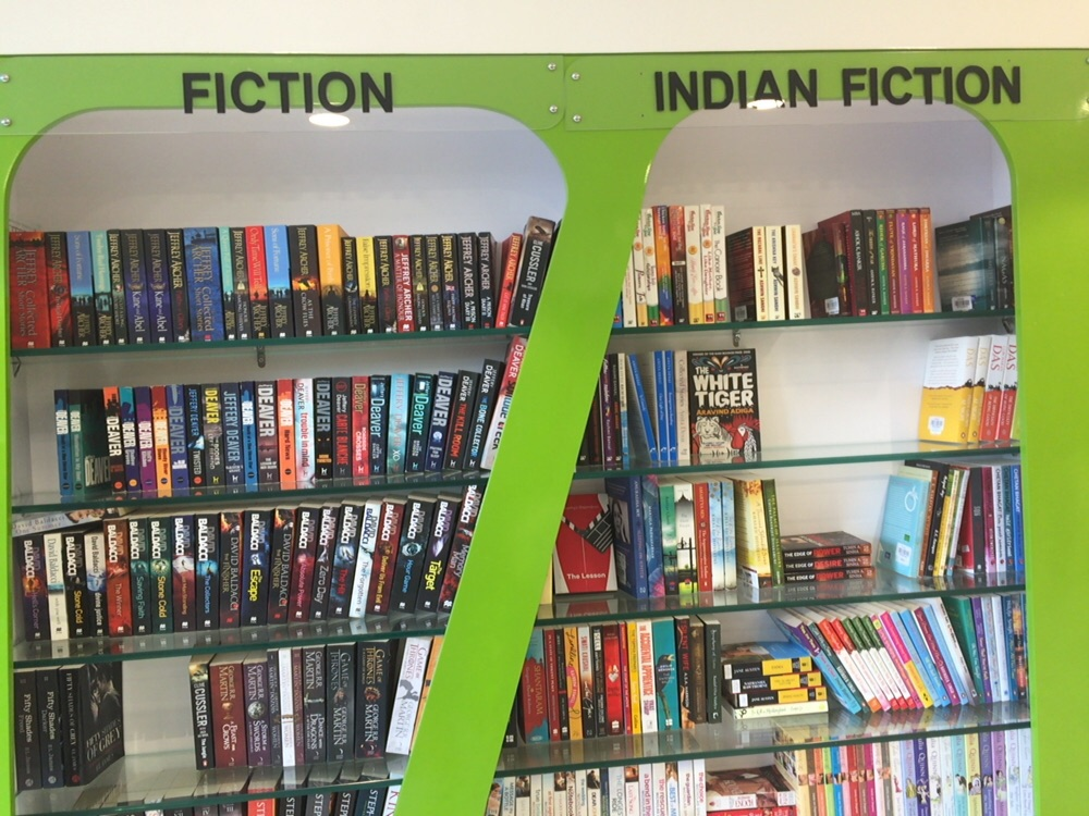 And now a doorstep library for you in Jaipur
