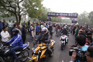 The enthusiatic bikers during the rally
