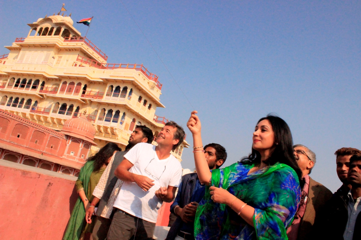 Princess Diya Kumari inaugurates the 3 day kite festival at City Palace