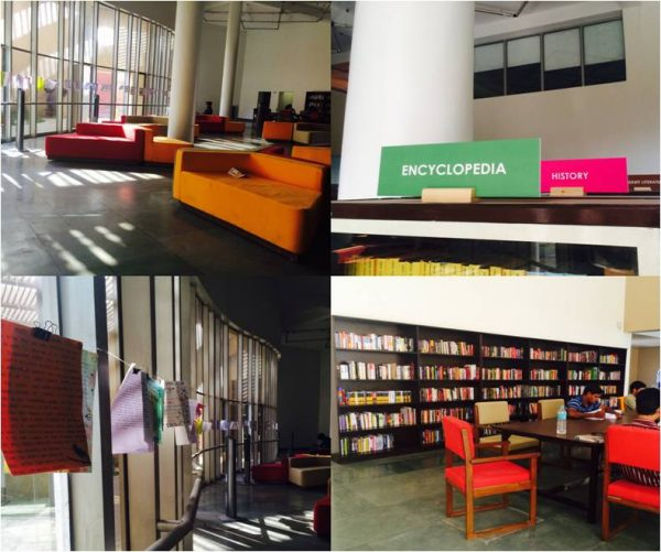 The renovated library at JKK