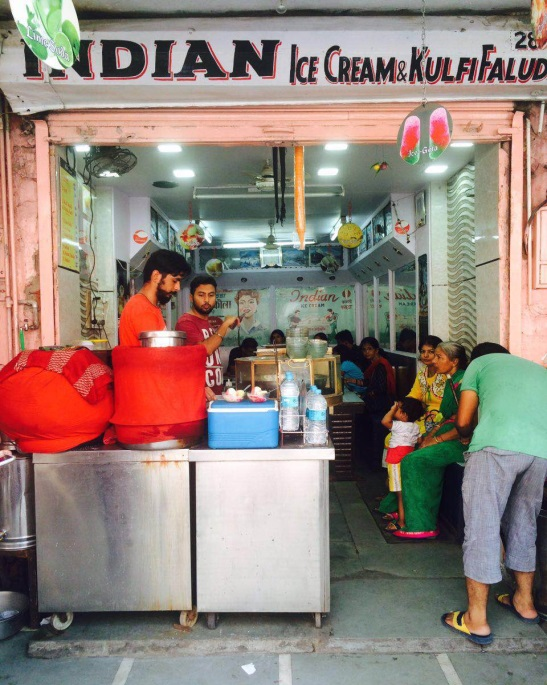 Indian Ice Cream, the oldest Kulfi Faluda shop in Bapu Bazaar