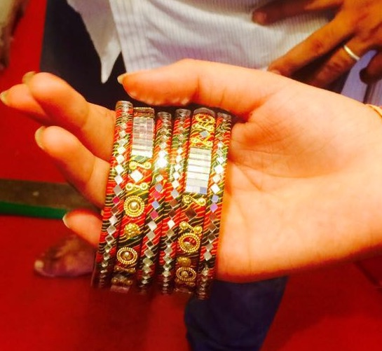 Lakh Bangles With traditional mirror work