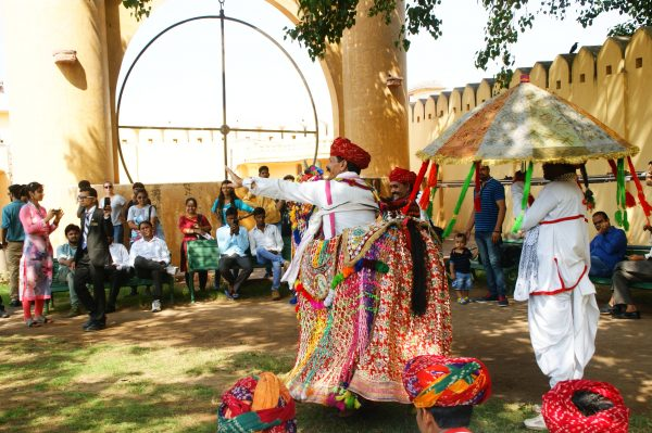 Traditional Kacchi Ghodi Folk Dance at Jantar Mantar