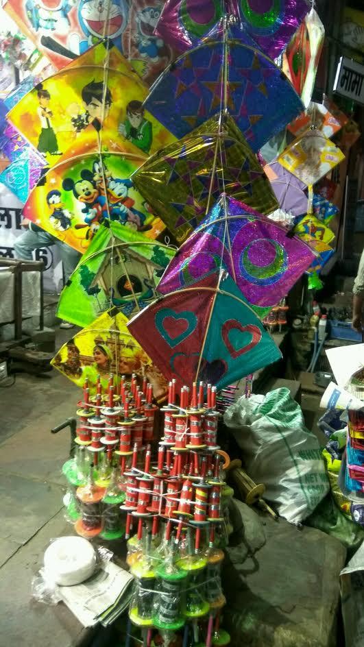 Kite market in Jaipur