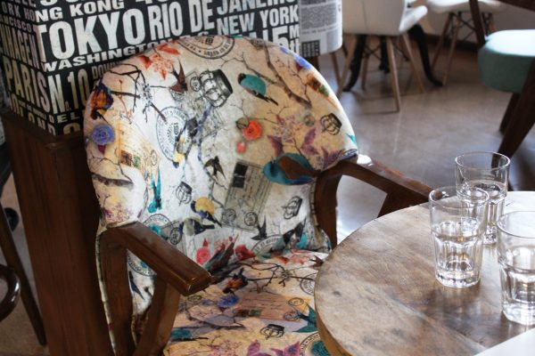 Quirky seating at The Good Times Cafe