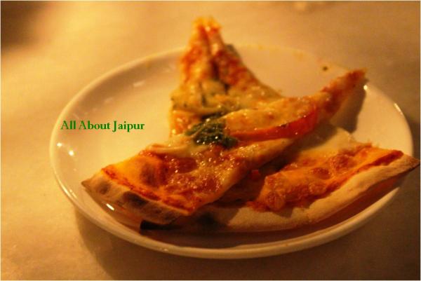 Wood fired Pizzas at Baradari, City Palace Jaipur