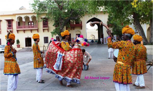 Royal Welcome with Kachhi Ghodi Dance at City Palace Jaipur