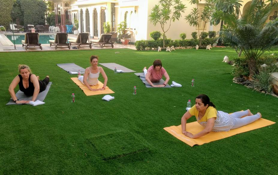 This yoga coach has trained over 1000 foreign tourists visiting Jaipur
