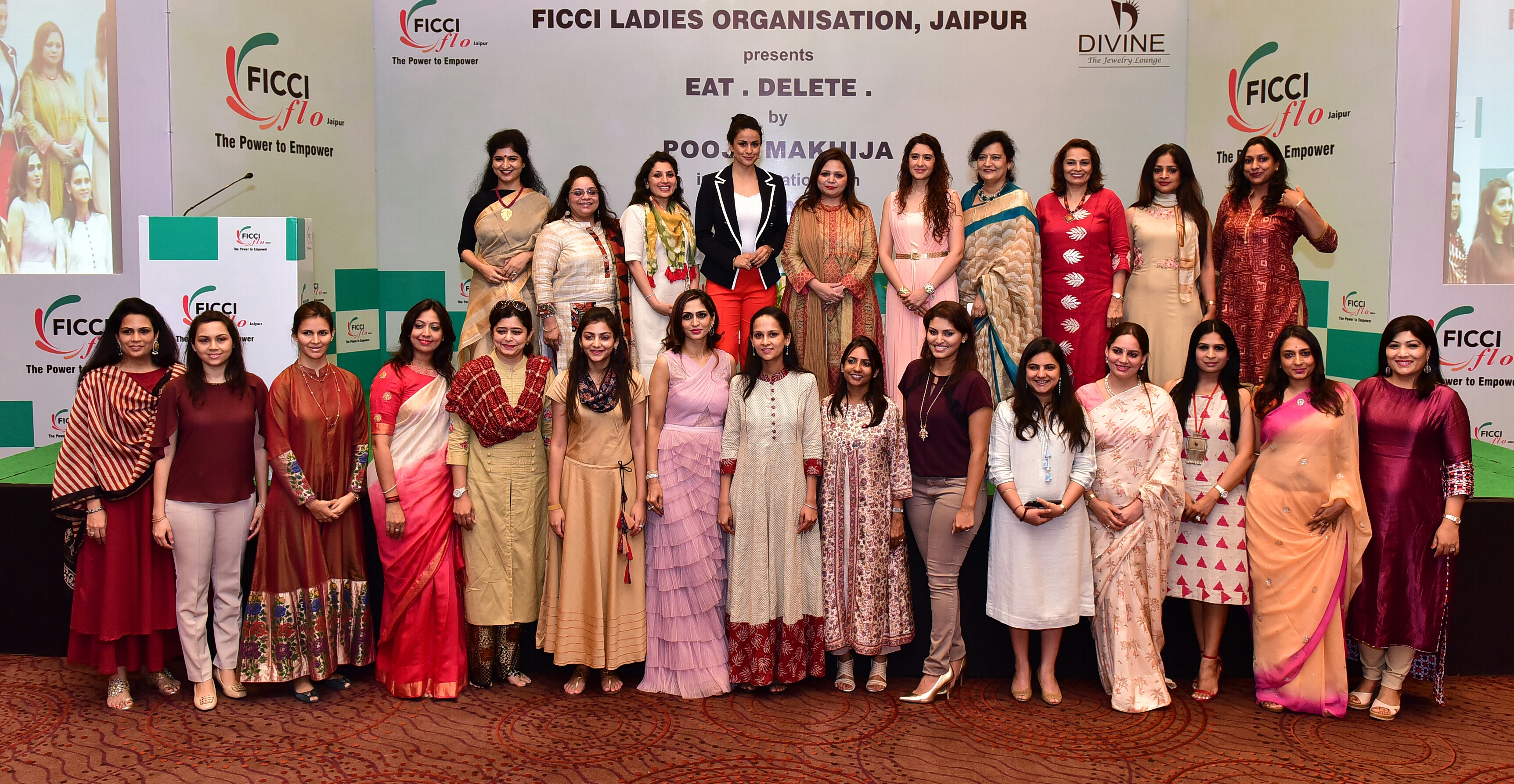Jaipur FICCI FLO ladies learn how to Eat & Delete by actress Gul Panag and nutritionist Pooja Makhija