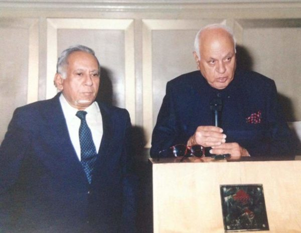 Dr P.K. Wanchoo with Farooq Abdullah